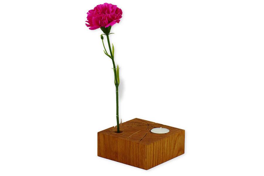 """Reagenzglas-Vase mit Teelichthalter und Kerzenhalter """"Vario"""""""