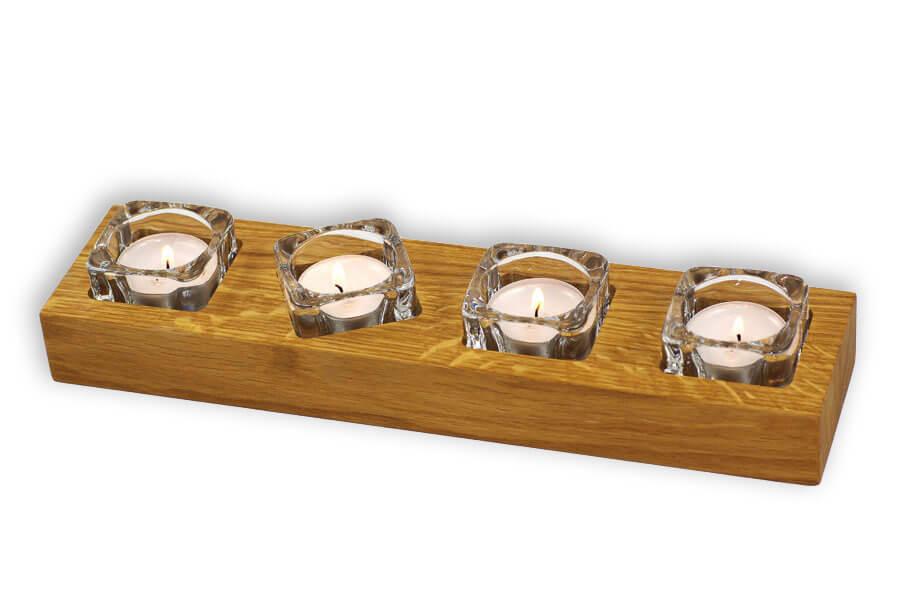"""4-fach Teelichthalter """"halb-Freestyle"""""""